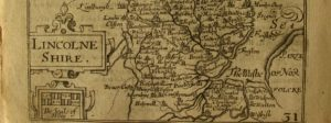 17th Century Map of Lincolnshire