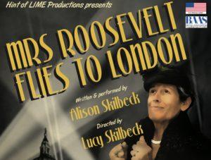 Mrs Roosevelt Flies to London Poster